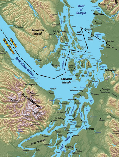 Map of Salt Spring Island